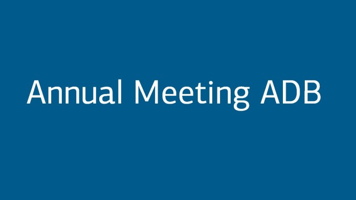 """Blue Button """"Annual Meeting ADB"""""""