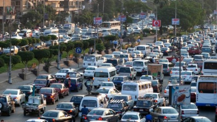 Traffic chaos on Egypt's roads