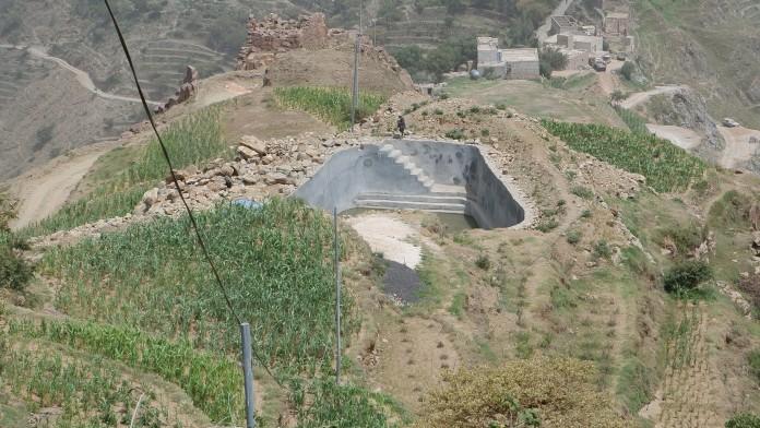 Wasserspeicherbecken im Jemen