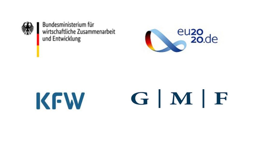 Logos des BMZ und von EU2020