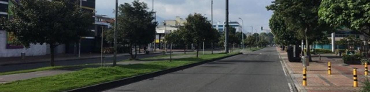 Menschenleere Straßen in Bogotá