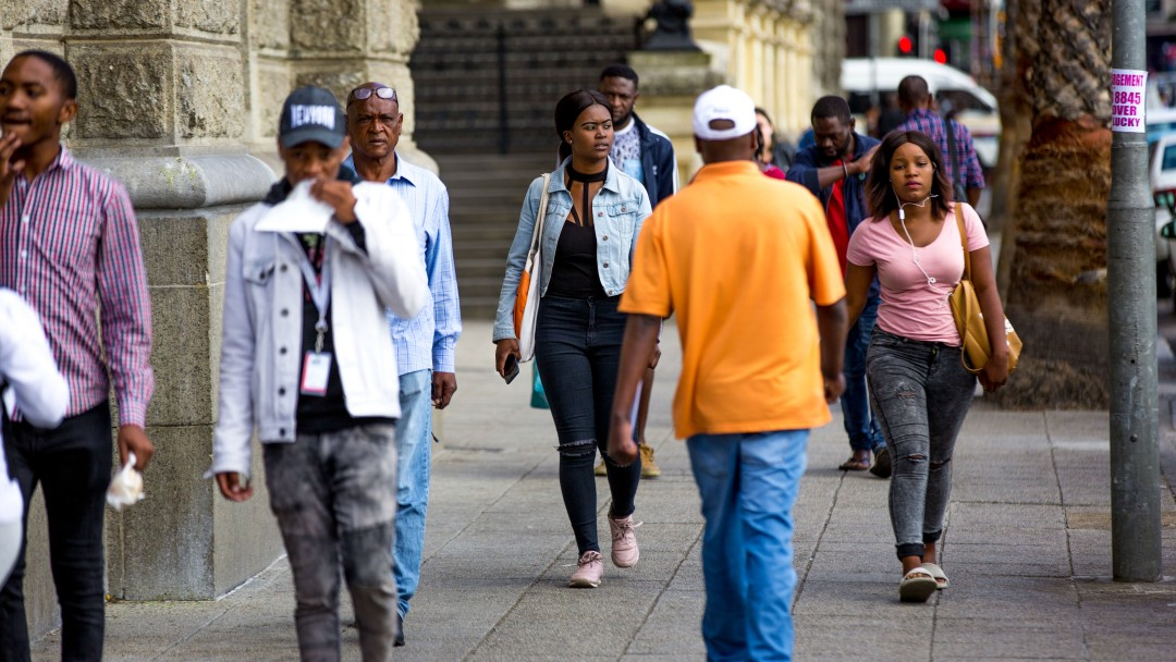 Passers-by in Cape Town
