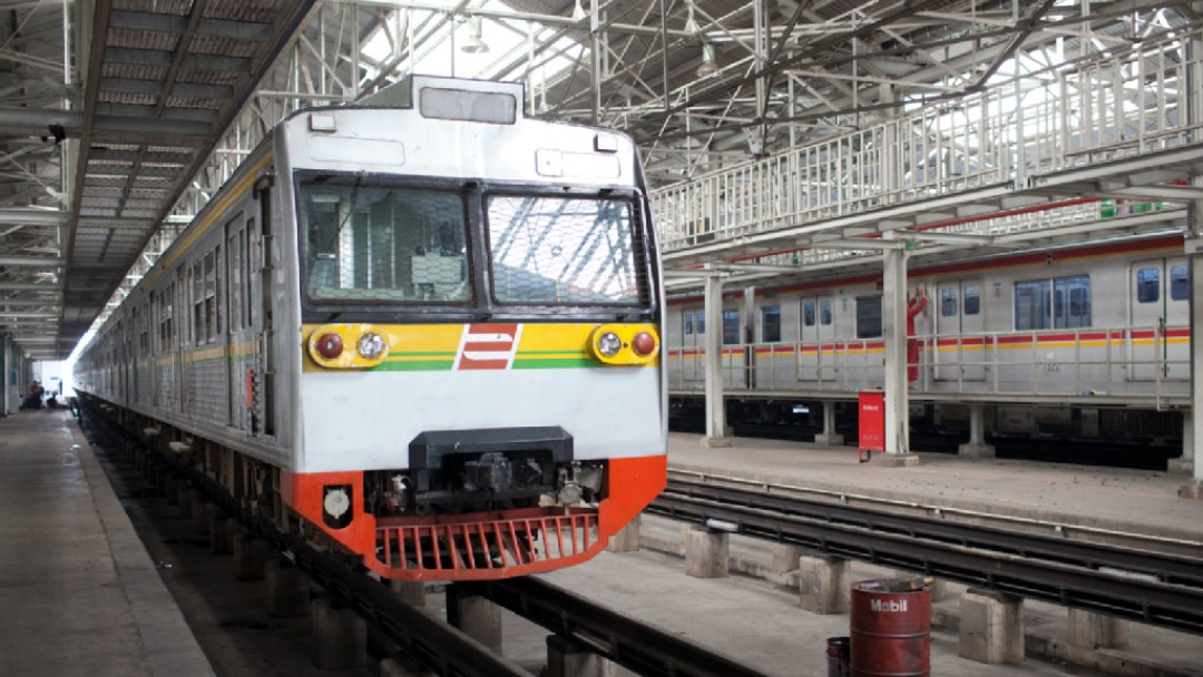 Train in metro station in Indonesia