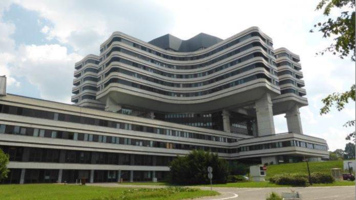 Außenansicht des Krankenhauses in Belgrad