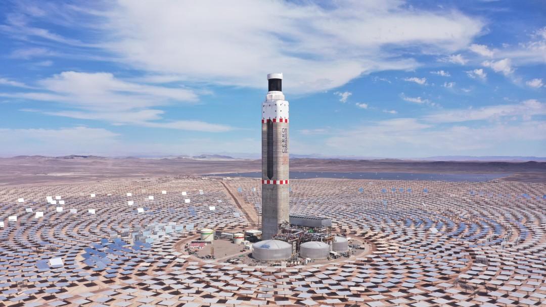 Luftaufnahme des Solarthermiekraftwerkes