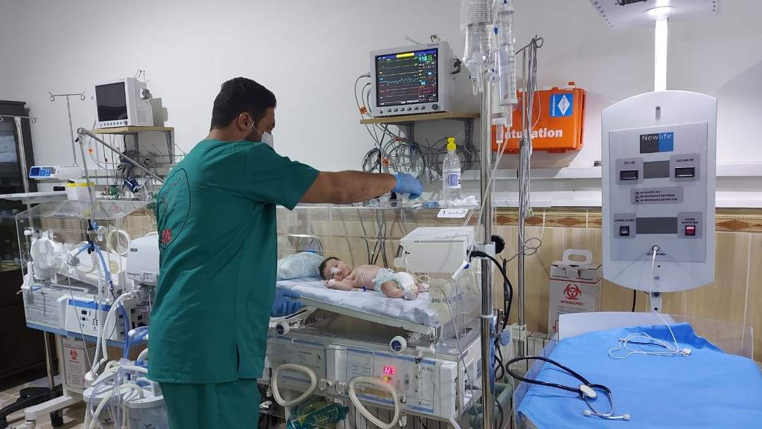 Geburtstation mit neuer Ausstattung in Aleppo