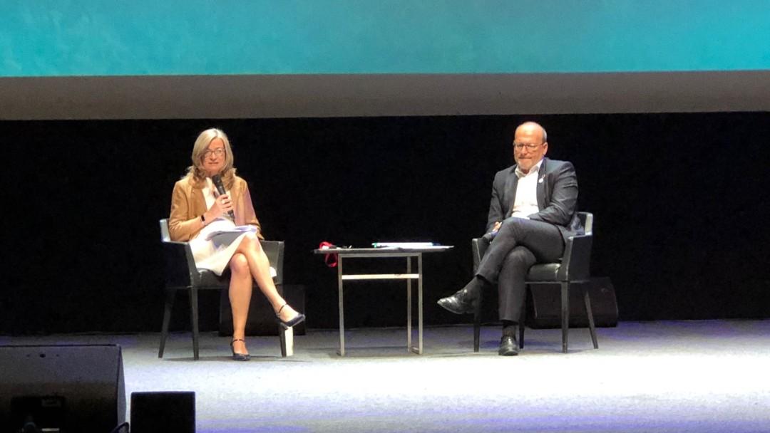 Vorstandsmitglied Christiane Laibach mit dem Chef der französischen AFD, Rémie Rioux