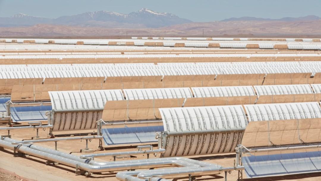 Solaranlage in Ouazarzate (Marokko).