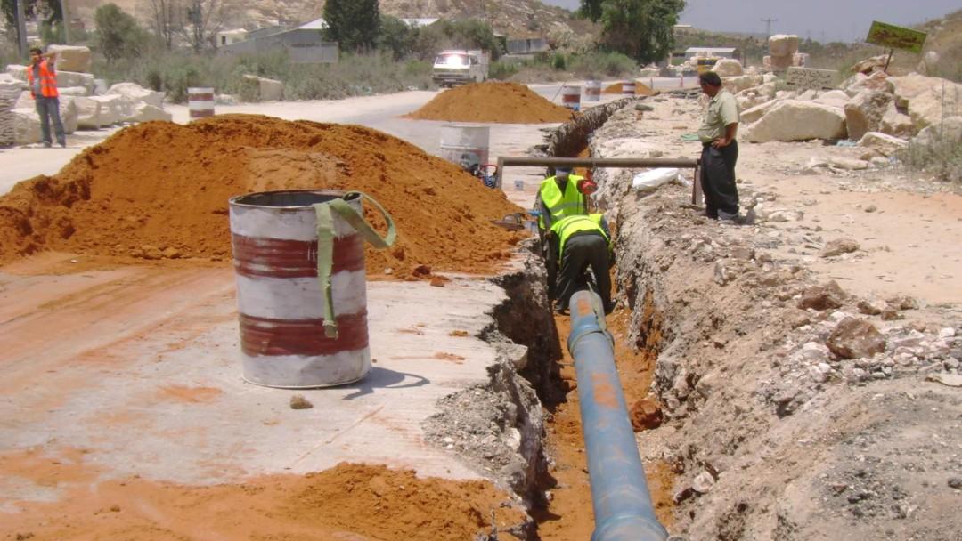 Baustelle einer Wasserleitung