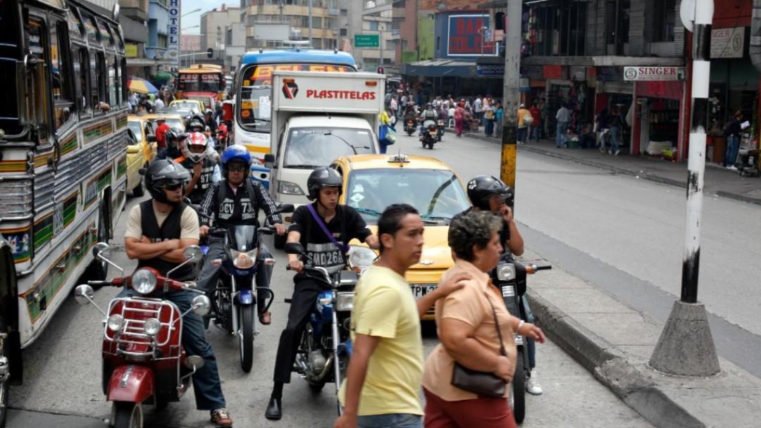 Straßenszene in Kolumbien