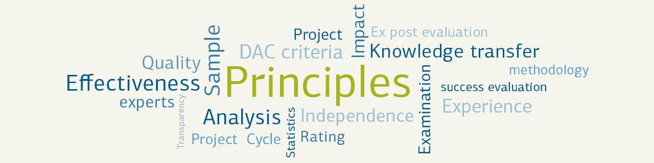 Principles of our evaluations