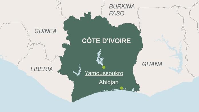 Karte von Côte d´Ivoire
