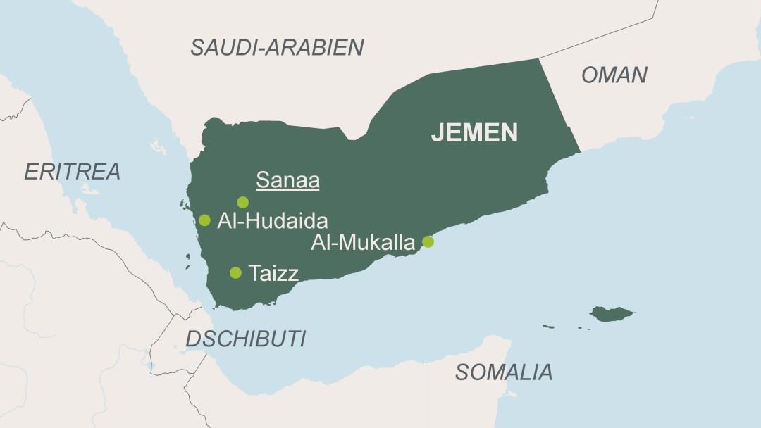 Jemen Karte