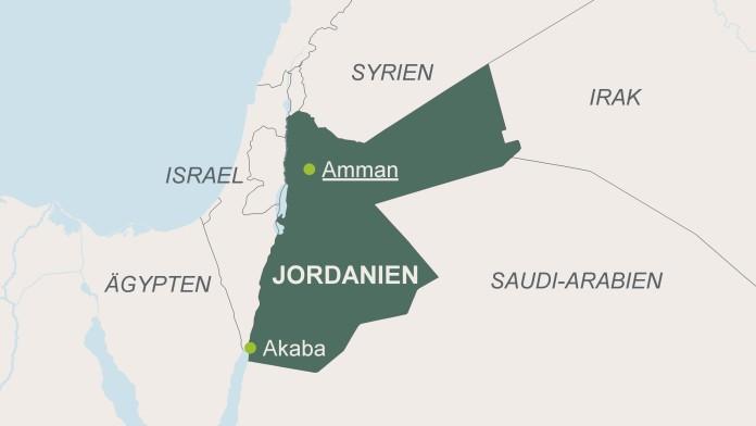 Karte von Jordanien