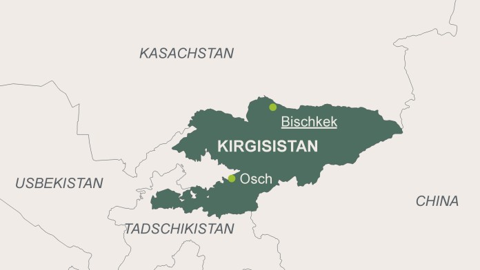 Karte von Kirgisistan