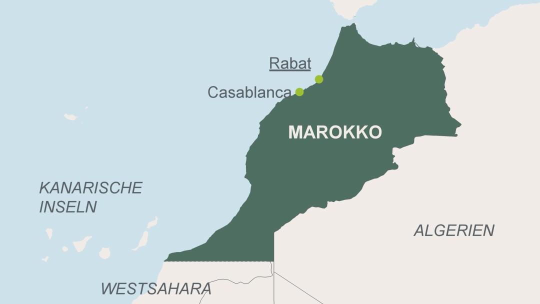 Karte von Marokko