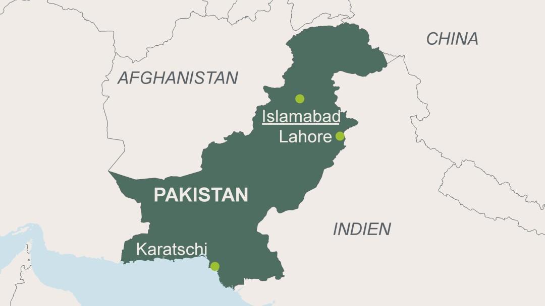 pakistan karte Landkarte Von Pakistan | Deutschland Karte pakistan karte