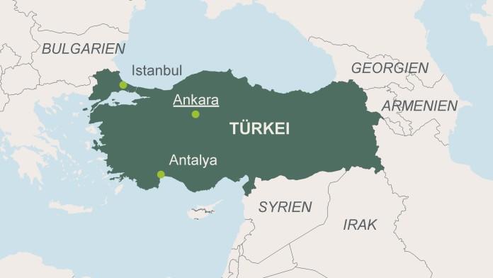 Karte der Türkei