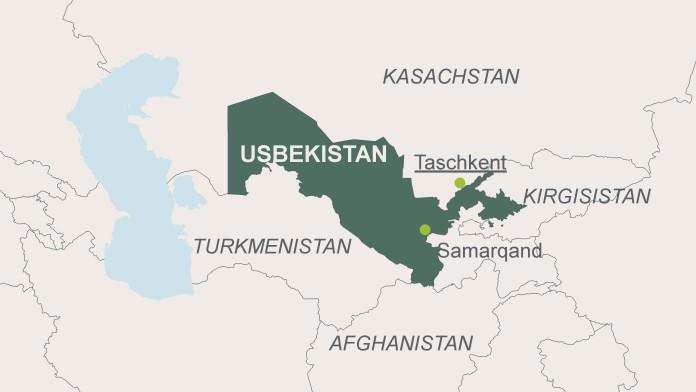 Karte von Uzbekistan