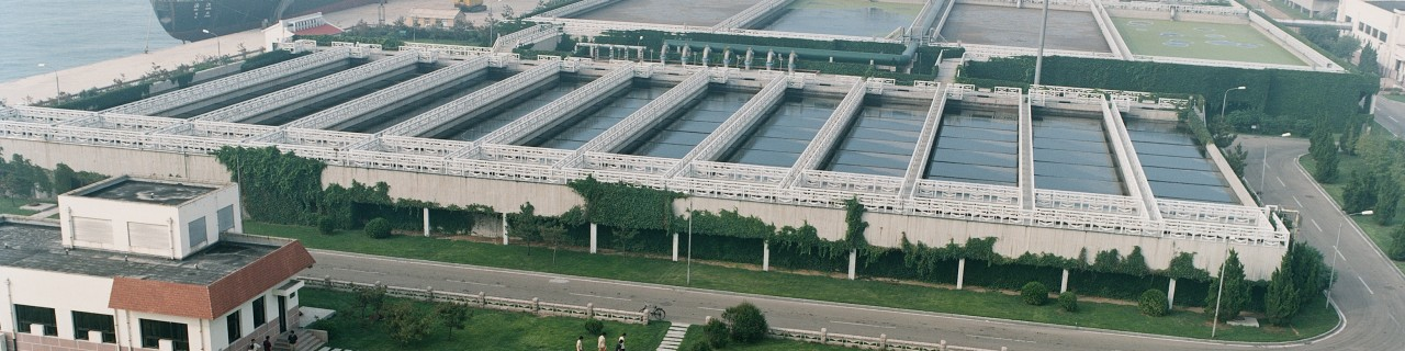 Chinese sewage treatment plant in harbour area