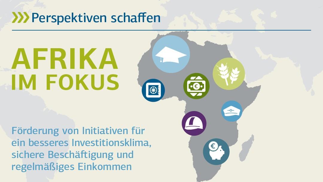 Perspektiven schaffen: Afrika im Fokus - Förderung von Initiativen für ein besseres Investitionsklima, sichere Beschäftigung und regelmäßiges Einkommen