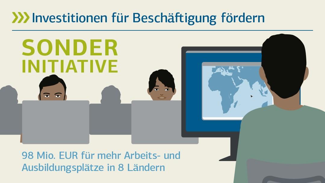 Investitionen für Beschäftigung fördern: Sonderinitiative - 98 Mio. EUR für mehr Arbeits- und Ausbildungsplätze in 8 Ländern
