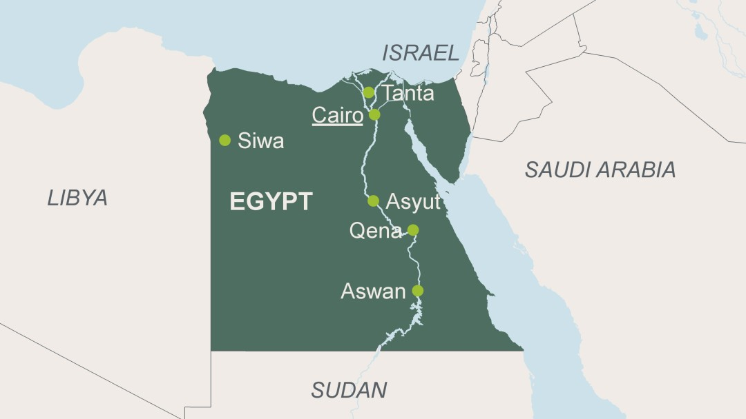 Egypt - Map of egypt for primary school