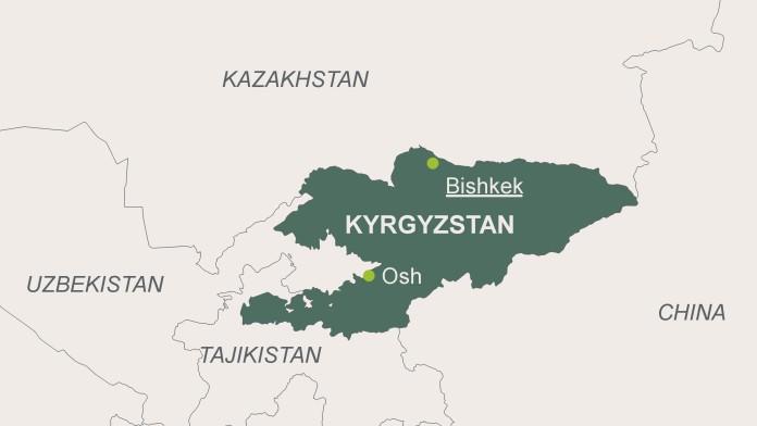 Map of Kyrgyz Republic