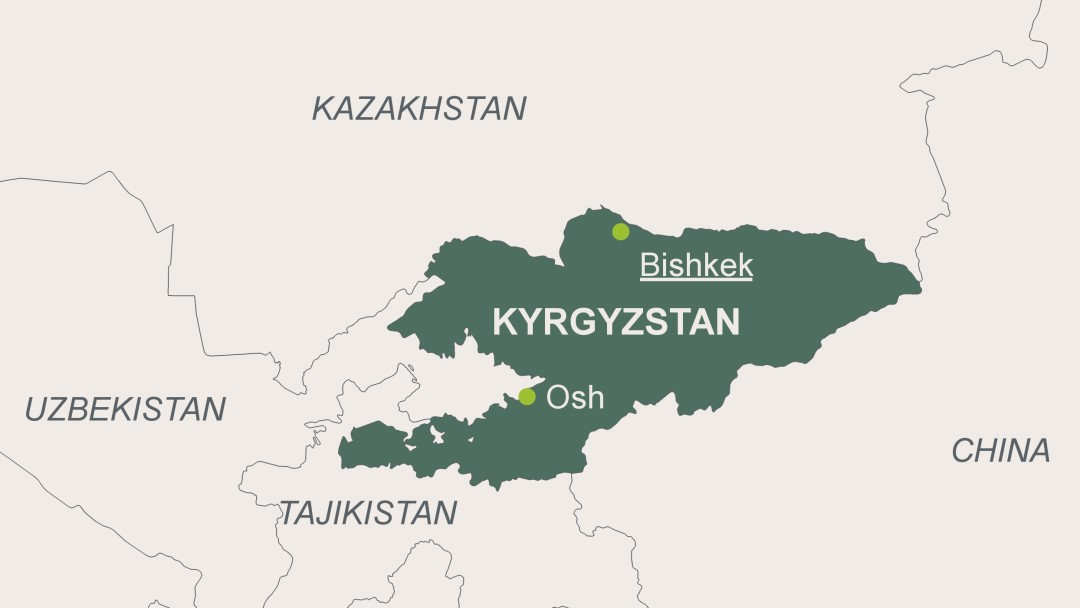 Kyrgyzstan map of kyrgyzistan with its capital bishkek gumiabroncs Image collections