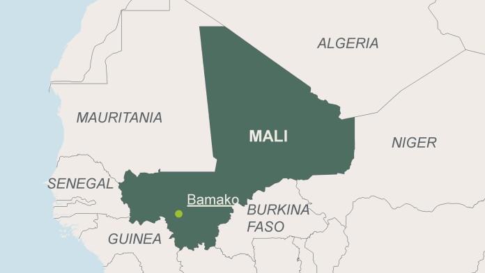 Landkarte von Mali mit der Hauptstadt Bamako