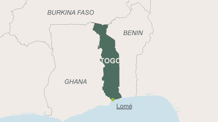Map of Togo