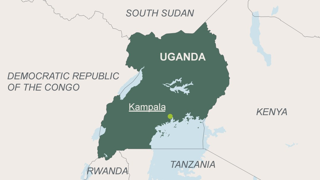 Map of Uganda and its neighbouring states