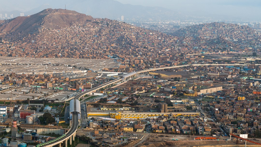 Panoramic view over Lima.