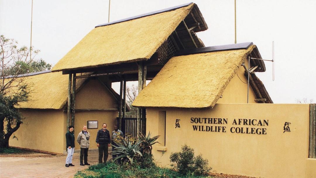 Studenten vorm Southern African Wildlife College