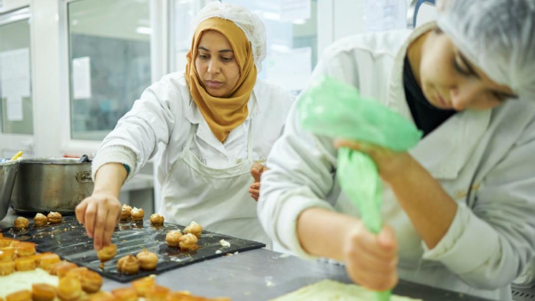 Produktionsstätte der Konditoreikette Gourmandise in Tunis