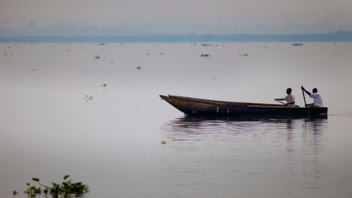 Boat on Lake Victoria